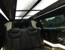 Interior of luxury 2015 new 70-inch chrysler 300 limousine for sale built by american limousine sales