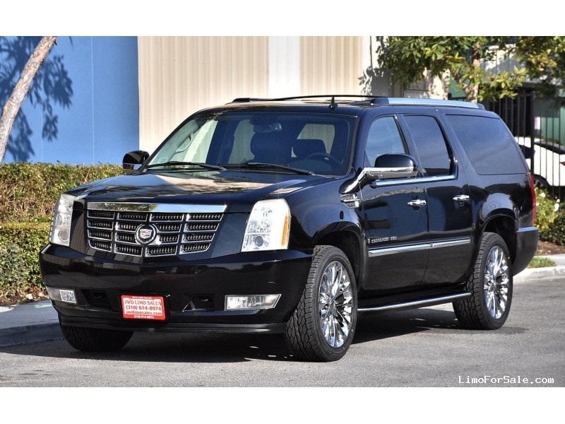 used 2008 cadillac escalade esv suv limo fontana california 17 900 limo for sale. Black Bedroom Furniture Sets. Home Design Ideas