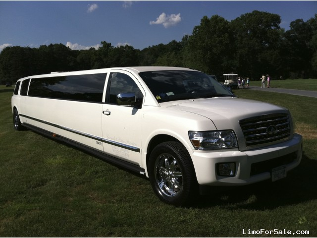 used 2008 infiniti qx56 suv stretch limo albertson new york 62 500 limo for sale. Black Bedroom Furniture Sets. Home Design Ideas