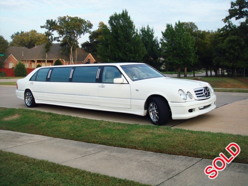 used 1996 mercedes benz s class sedan stretch limo