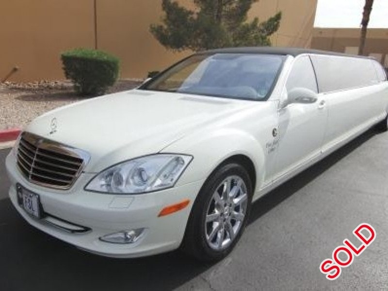Used 2008 mercedes benz s550 sedan stretch limo lime lite for Mercedes benz for sale las vegas
