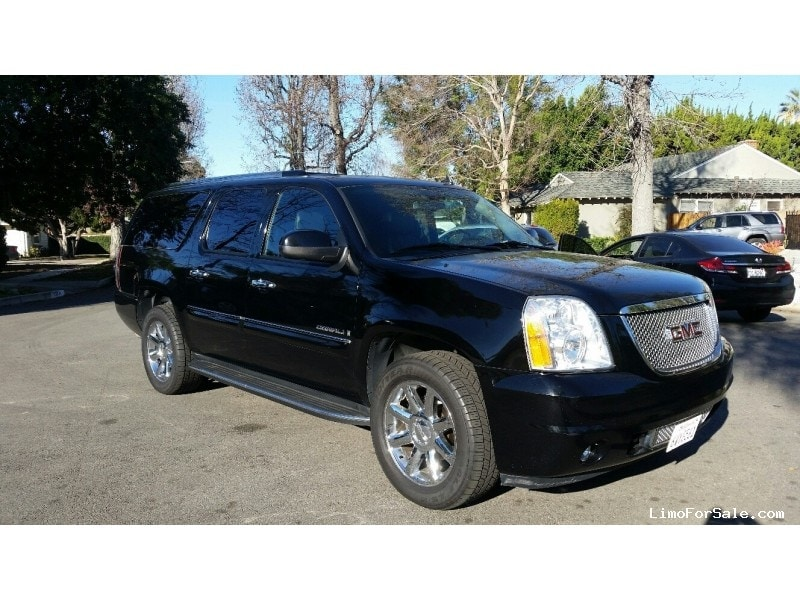 used 2008 gmc yukon denali suv limo corona california 21 000 limo for sale. Black Bedroom Furniture Sets. Home Design Ideas
