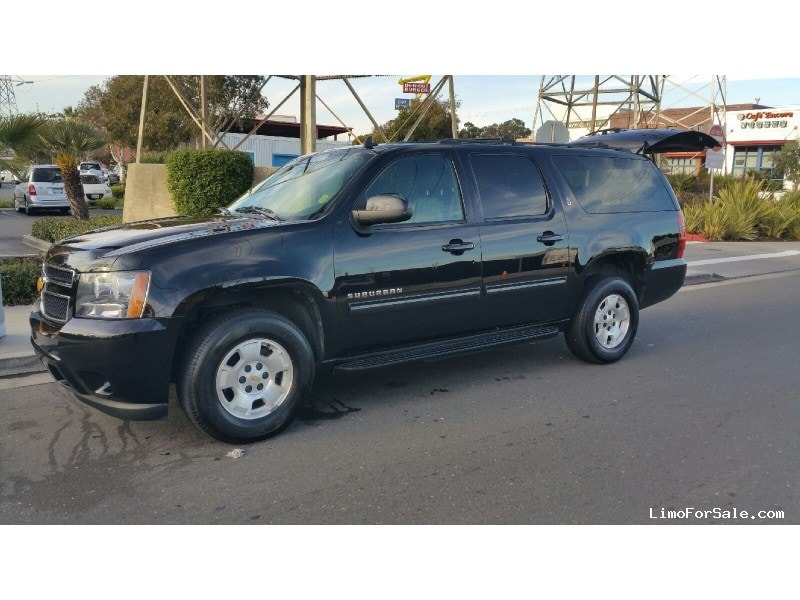 used 2014 chevrolet suburban suv limo redwood city california 29 999 limo for sale. Black Bedroom Furniture Sets. Home Design Ideas
