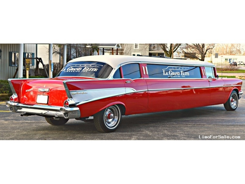 used 1957 chevrolet bel-air antique classic limo great lakes coach