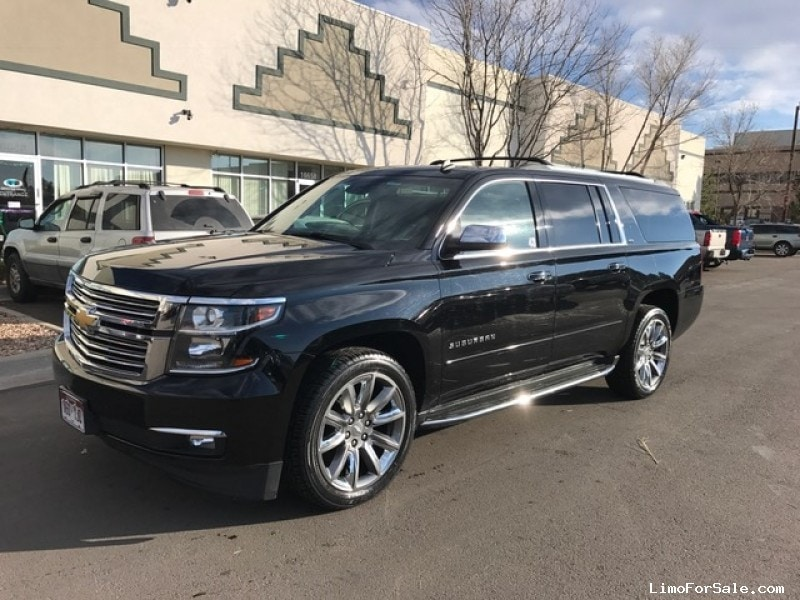 used 2015 chevrolet suburban suv limo aurora colorado 43 999 limo for sale. Black Bedroom Furniture Sets. Home Design Ideas