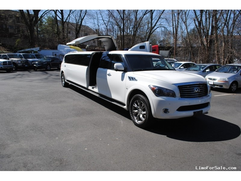 used 2014 infiniti qx80 suv stretch limo quality coachworks westwood new jersey 90 000. Black Bedroom Furniture Sets. Home Design Ideas