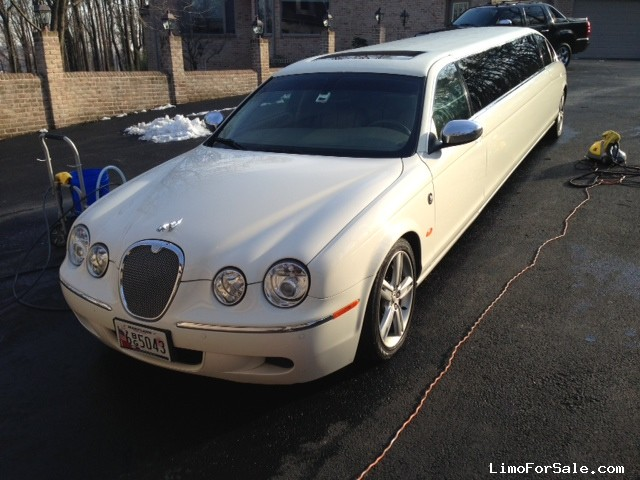 used 2008 jaguar s type sedan stretch limo lime lite coach works cockeysville maryland. Black Bedroom Furniture Sets. Home Design Ideas
