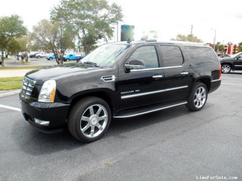 used 2012 cadillac escalade esv suv stretch limo florida. Black Bedroom Furniture Sets. Home Design Ideas