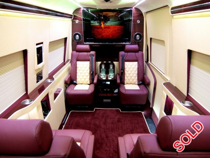 Used 2013 Mercedes Benz Sprinter Van Limo HQ Custom Design