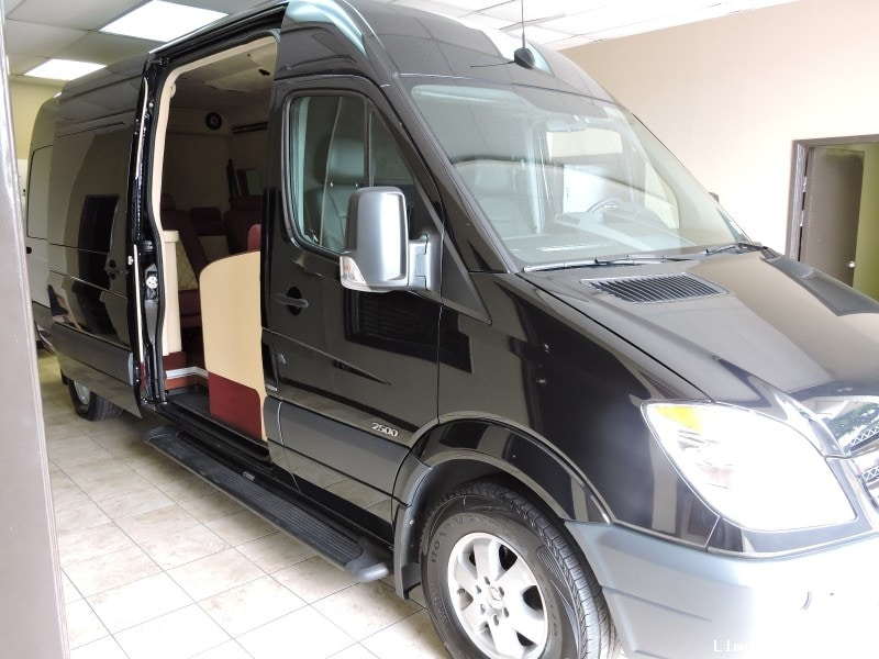 Used 2013 mercedes benz sprinter van limo hq custom design for Mercedes benz conversion vans for sale