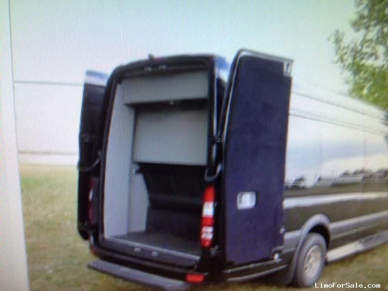 Used 2014 mercedes benz sprinter van limo orange for Used mercedes benz sprinter van for sale