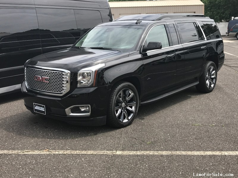 used 2016 gmc yukon denali suv limo quality coachworks oaklyn new jersey 149 490 limo. Black Bedroom Furniture Sets. Home Design Ideas