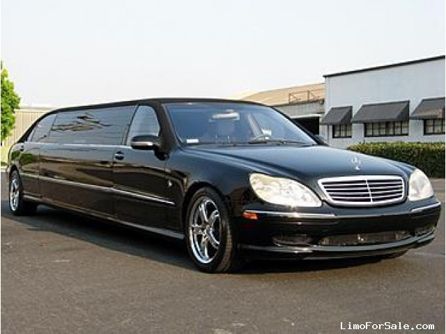 Used 2001 mercedes benz s class sedan stretch limo lime for Mercedes benz santa clara