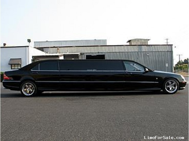 used 2001 mercedes benz s class sedan stretch limo lime lite coach works santa clara. Black Bedroom Furniture Sets. Home Design Ideas