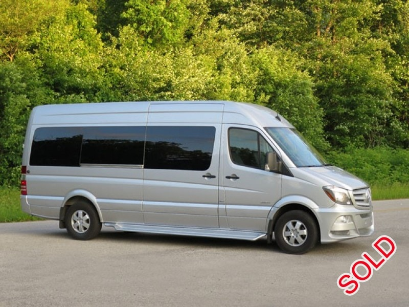 Used 2014 mercedes benz sprinter van shuttle tour st for Mercedes benz st louis