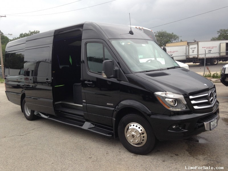used 2014 mercedes benz sprinter van limo executive coach builders chicago 61 400 limo. Black Bedroom Furniture Sets. Home Design Ideas