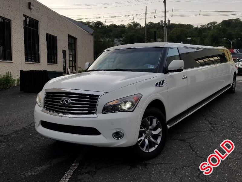 infiniti qx56. used 2011 infiniti qx56 suv stretch limo pinnacle limousine manufacturing - colonia, new jersey $56,900 qx56