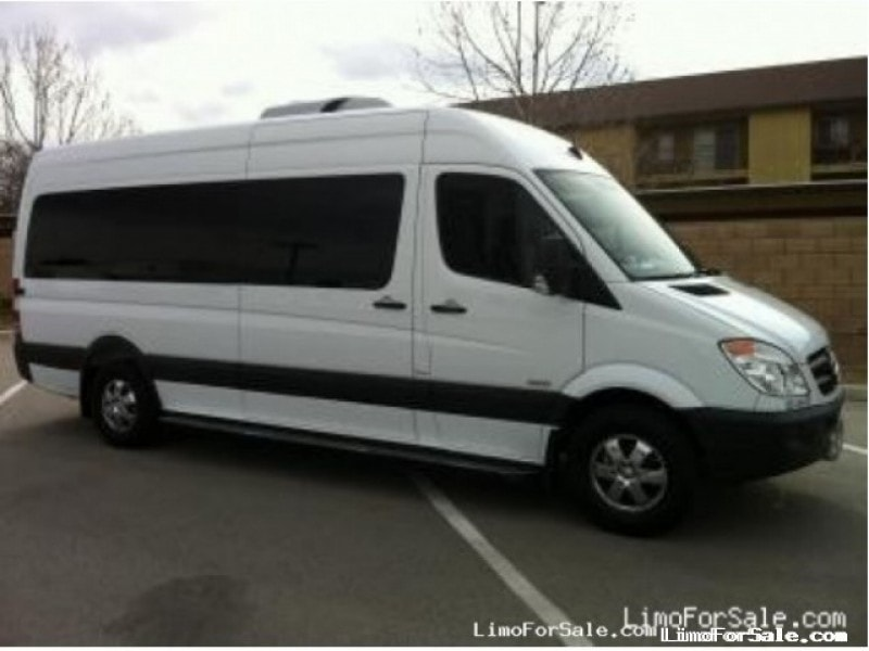Used 2012 mercedes benz sprinter mini bus limo orange for Mercedes benz limo for sale