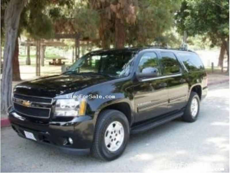 used 2010 chevrolet suburban suv limo glendale california 26 450 limo for sale. Black Bedroom Furniture Sets. Home Design Ideas