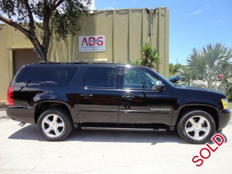used 2012 chevrolet suburban suv limo delray beach florida 28 950 limo for sale. Black Bedroom Furniture Sets. Home Design Ideas