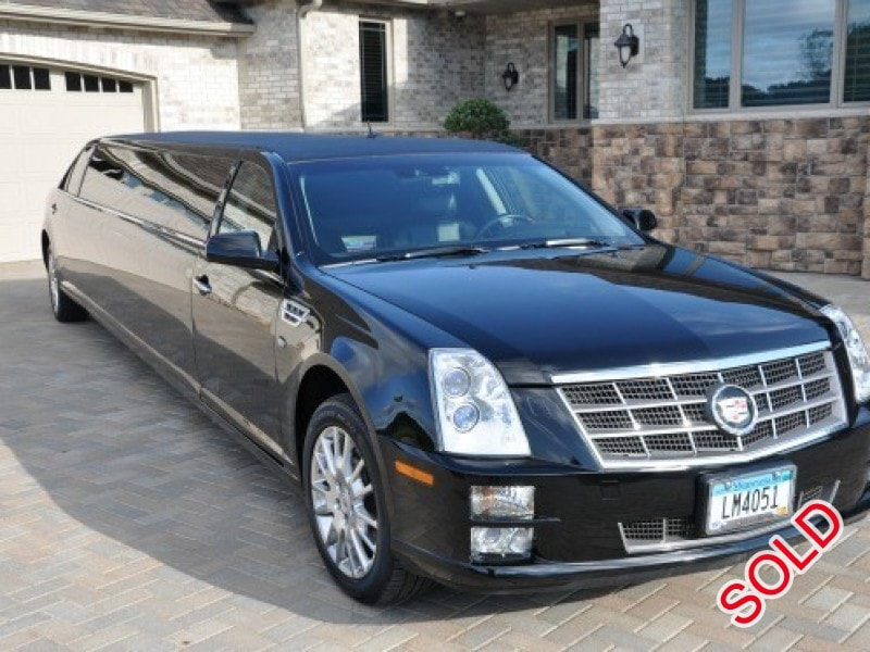 used 2008 cadillac sts sedan stretch limo ec customs. Black Bedroom Furniture Sets. Home Design Ideas