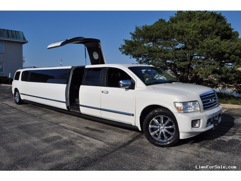 used 2008 infiniti qx56 suv stretch limo top limo ny des plaines illinois 33 000 limo. Black Bedroom Furniture Sets. Home Design Ideas