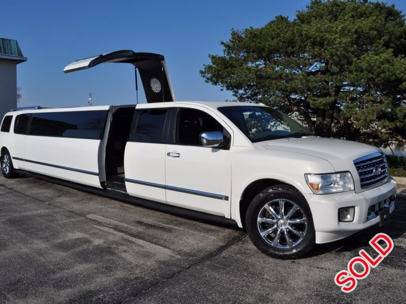 Used 2008 Infiniti QX56 SUV Stretch Limo Top Limo NY - Des Plaines, Illinois - $32,000