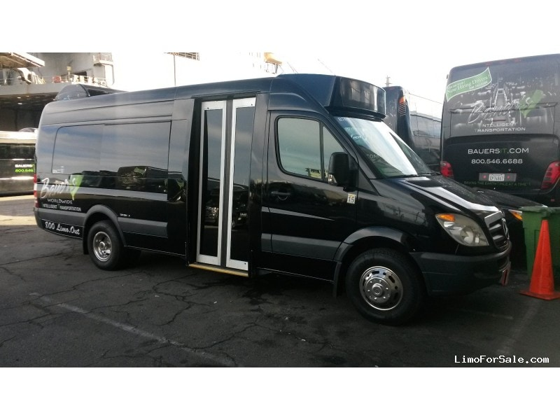 used 2008 mercedes benz sprinter van shuttle tour san francisco california limo for sale. Black Bedroom Furniture Sets. Home Design Ideas