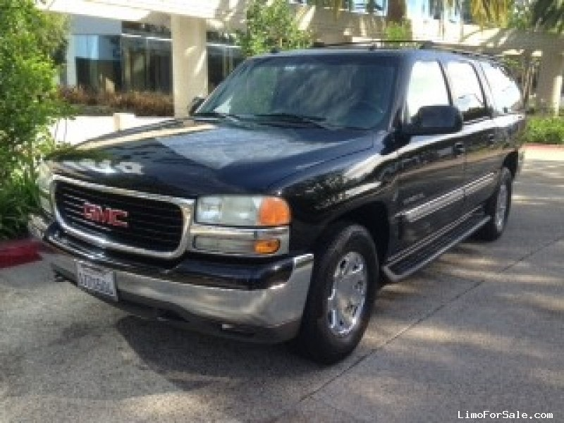 used 2004 gmc yukon suv limo los angeles california 4 500 limo for sale. Black Bedroom Furniture Sets. Home Design Ideas