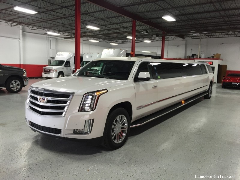 used 2016 cadillac escalade esv suv stretch limo pinnacle limousine manufacturing livonia. Black Bedroom Furniture Sets. Home Design Ideas