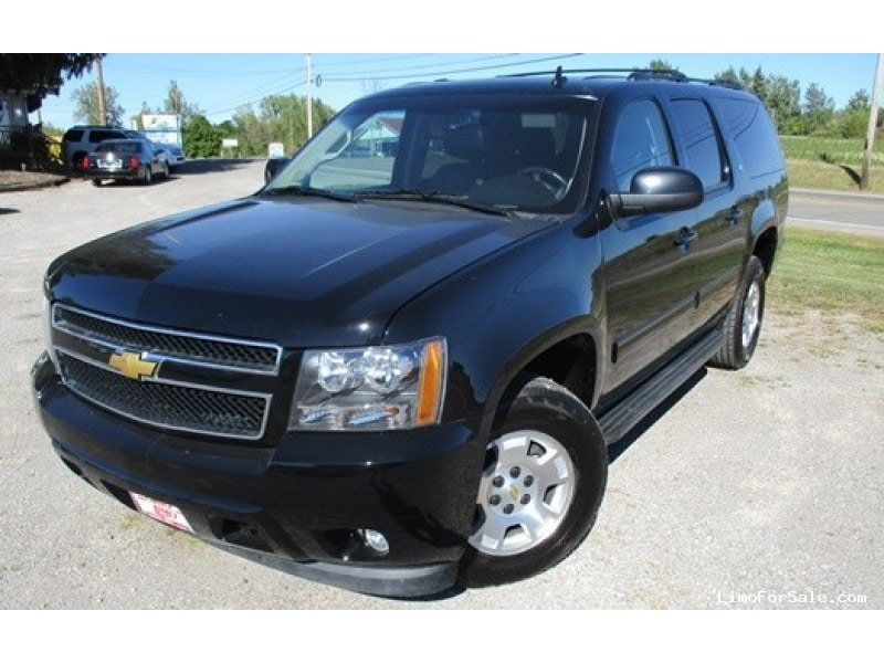 used 2013 chevrolet suburban suv limo bellefontaine ohio 34 800 limo for sale. Black Bedroom Furniture Sets. Home Design Ideas