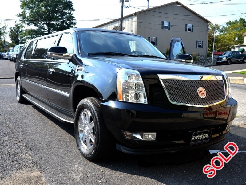 used 2008 cadillac escalade suv stretch limo krystal oaklyn new jersey 54 500 limo for sale. Black Bedroom Furniture Sets. Home Design Ideas