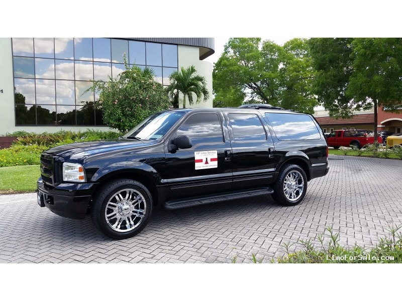used 2005 ford excursion xlt suv limo executive coach builders fort myers florida 28 950. Black Bedroom Furniture Sets. Home Design Ideas