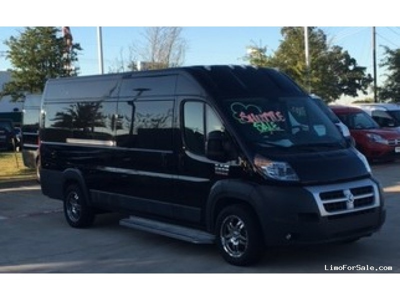 new 2016 dodge ram promaster van limo denton texas 59 995 limo for sale. Black Bedroom Furniture Sets. Home Design Ideas