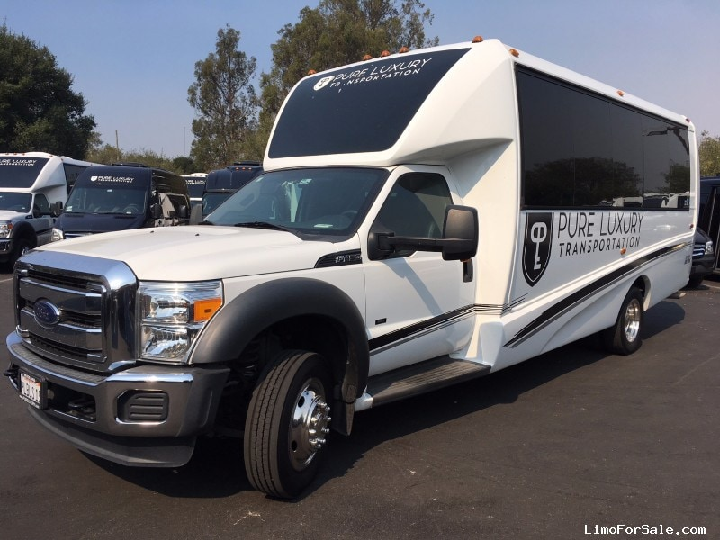 used 2015 ford f 450 mini bus shuttle tour petaluma california 52 300 limo for sale. Black Bedroom Furniture Sets. Home Design Ideas