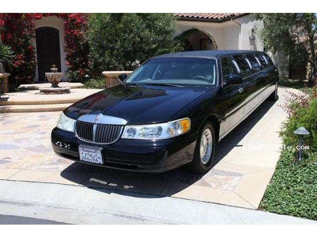 used 1998 lincoln town car sedan stretch limo ultra newport beach california 9000