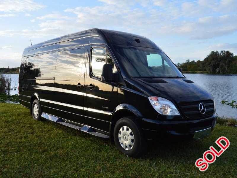 Used 2009 mercedes benz sprinter mini bus limo alva for Mercedes benz limo for sale