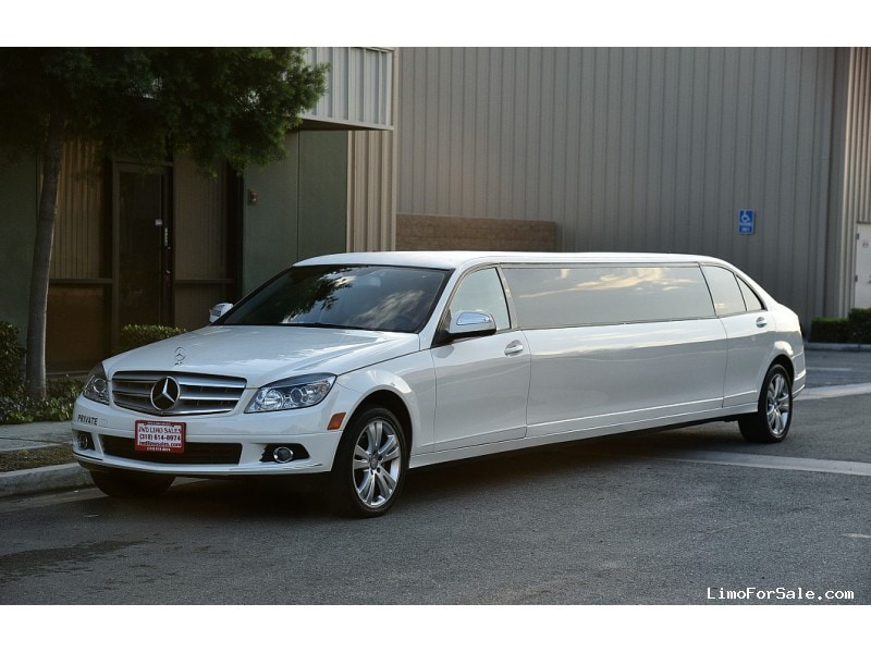 Used 2008 mercedes benz c class sedan stretch limo for Mercedes benz limo for sale