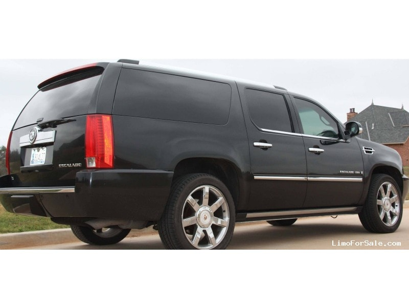 used 2008 cadillac escalade esv suv limo norman oklahoma 36 000 limo for sale. Black Bedroom Furniture Sets. Home Design Ideas
