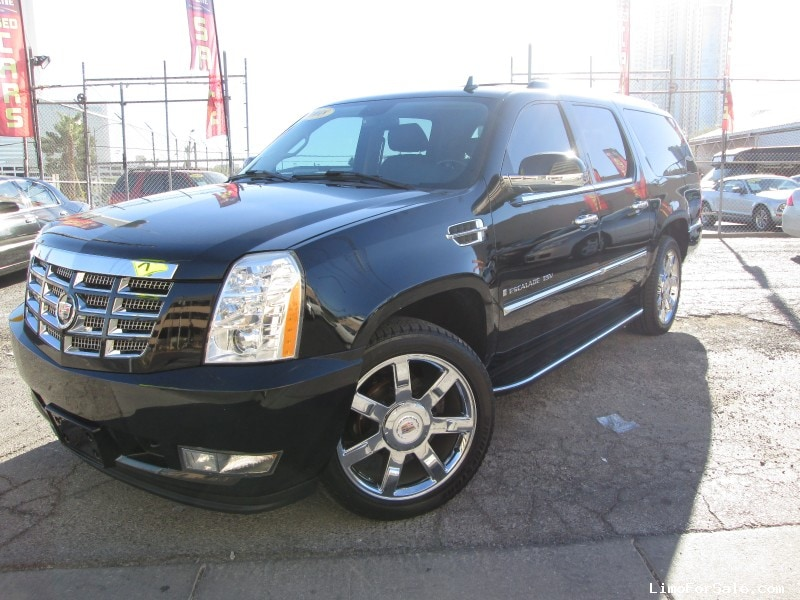 used 2008 cadillac escalade esv suv limo las vegas nevada 25 888 limo for sale. Black Bedroom Furniture Sets. Home Design Ideas