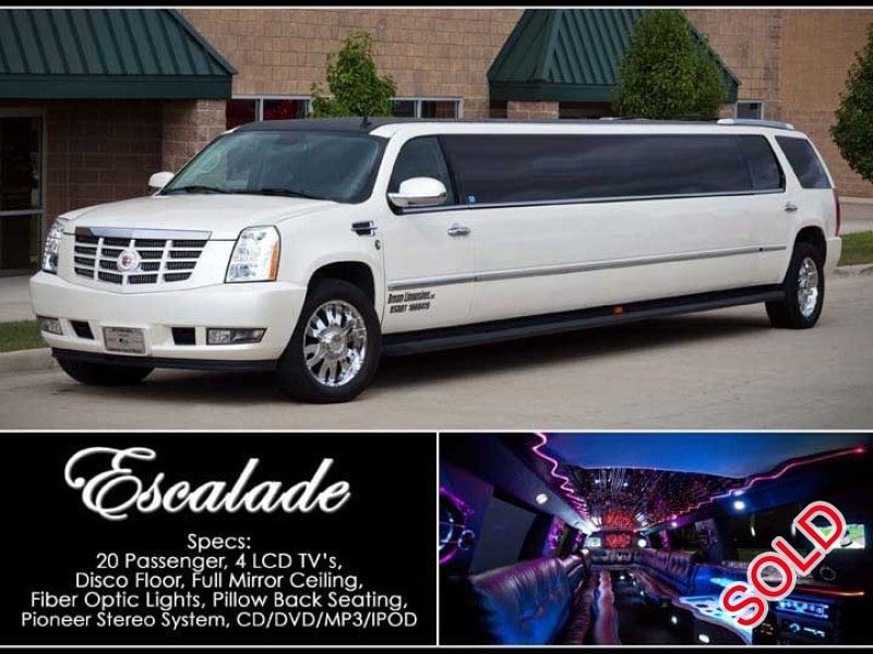 used 2007 cadillac escalade suv stretch limo lime lite coach works shelby twp michigan. Black Bedroom Furniture Sets. Home Design Ideas