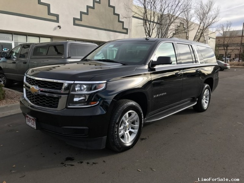used 2015 chevrolet suburban suv limo aurora colorado 31 400 limo for sale. Black Bedroom Furniture Sets. Home Design Ideas